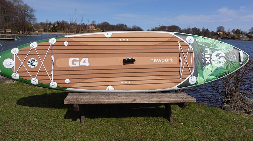 """NIXY Newport G4 10'6"""" Inflatable SUP Full View"""